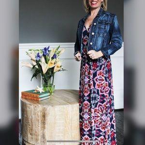 LoveAppella Lauryn Knit Maxi Dress Blue Small